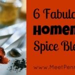 6 Homemade Spice Blends Ranch dressing Onion soup mix
