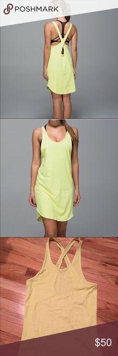 Lululemon Salty Swim Cover up Dress sz 4 Lululemon swim cover-up sz 4 in bright yellow. Great condition! lululemon athletica Dresses