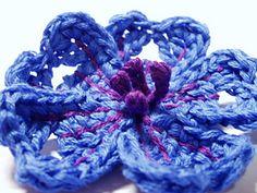 Ravelry: Caucasian Crane's-bill Crochet Flower Pattern pattern by Camelia Shanahan