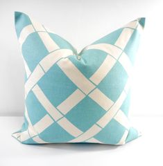 Blue Pillows. Light Blue. Key west Village by TwistedBobbinDesigns