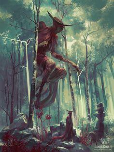 Bezaliel, Angel of Shadows - by Peter Mohrbacher - from The Watchers - Angelarium