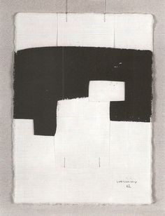 just another masterpiece: Eduardo Chillida. Contemporary Abstract Art, Modern Art, Art Blanc, Minimal Art, Collage Art, Collages, Art Abstrait, Pablo Picasso, White Art