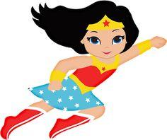 Wonder Woman - Clipart Suggest Wonder Woman Birthday, Wonder Woman Party, Birthday Woman, Baby Wonder Woman, Superhero Classroom, Superhero Kids, Superhero Birthday Party, Superhero Clipart, Superhero Teacher