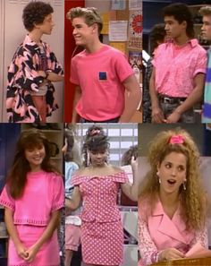"Pink was a thing. | The Ultimate Guide To ""Saved By The Bell"" Fashion"