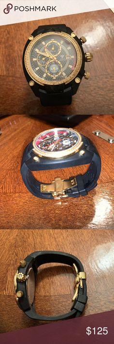 Men S Watch Beautiful Watch Farruko Carbon Fiber Music Watch Very Rare Normal Wear It Needs A New Battery But Besides Beautiful Watches Men Watches For Men