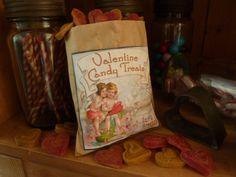 Created this sweet little bag of Beeswax  Valentine Candy treats today XxX