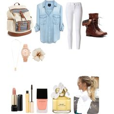 school by evalynntween on Polyvore featuring polyvore fashion style Aéropostale Michael Kors H&M Lancôme Stila Marc Jacobs Witchery