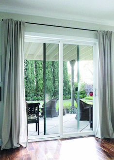 Installing sliding door curtains is the best window treatment for your sliding doors. Sliding door curtains come in number of varieties and designs. Glass Door Curtains, Sliding Door Curtains, Patio Door Curtains, Sliding Door Window Treatments, Sliding Door Design, Sliding Patio Doors, Bedroom Curtains, Diy Bedroom, Kitchen Curtains