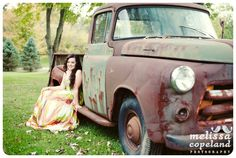Senior Photos, Old Rusty Truck, Dodge Truck