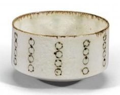 A straight sided ceramic bowl made in Austria in 1959 Lucie Rie, at auction by Sotheby's
