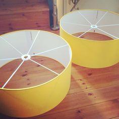 Sunshine yellow lampshade  Lampshade Design Studio