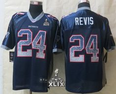 New England Patriots  24 Darrelle Revis 2015 Super Bowl XLIX Drift Fashion  Blue Elite Jersey 7e8ab0793