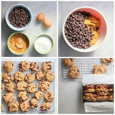 4-ingredient chocolate chip cookies .. THM / Low Carb use something like swerve or stevia
