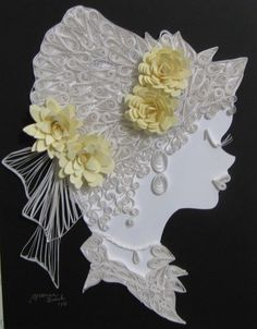 Yvonne Quirk - Quilling Number 9