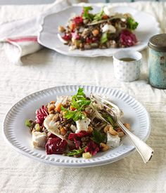 Lentil, goat's cheese and hazelnut salad recipe | French salad recipe - Gourmet Traveller