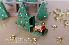 Tannenbaum-Goodies ⋆ Elviras Stempelzimmer Packing with the Stampin Up Christmas tree punch Stampin Up Christmas, Christmas Time, Christmas Crafts, Christmas Decorations, Holiday, Christmas Ideas, Handmade Christmas, Craft Gifts, Diy Gifts