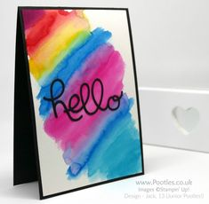 Stampin' Up! Demonstrator Pootles - Watercoloured Card - Neo Chrome Inspired!