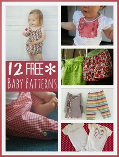 FREE BABY CLOTHES PATTERNS...Check out this super adorable collection of free baby clothes patterns, some are PFD digital downloads and some are tutorials... go on, get started...