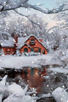 Зимний пейзаж - анимация на телефон №1292077