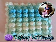 How to crochet the bobble stitch - Part 1 of 5 - Crochet Lessons Crochet Stitches Patterns, Crochet Chart, Crochet Basics, Crochet Designs, Knit Crochet, Crochet Crocodile Stitch, Bobble Stitch, Christening Blanket, Crochet Videos