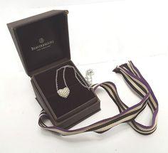 Pretty SWAROVSKI Silver Plated Clear Crystal Heart Necklace, BOXED - V29 D33 #Swarovski