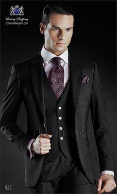 Traje de novio negro 922 ONGala Wedding suit