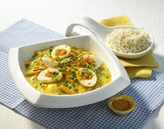 Unser beliebtes Rezept für Curry-Gemüse-Eier und mehr als 55.000 weitere kostenlose Rezepte auf LECKER.de.