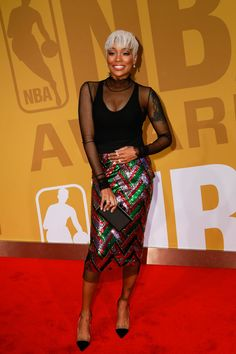 Monica - The Conversation-Worthy Looks From the 2017 NBA Awards Red Carpet