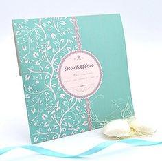 Tiffany blue蓝色欧式创意请帖个性订制2014新款定制喜帖韩式请柬