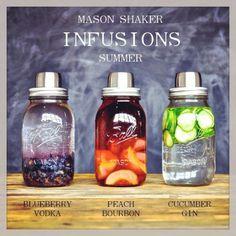 Mason jar Shaker Infusions Drink cocktails lemonade tea