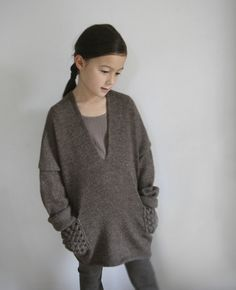 esencia - poncho style sweater