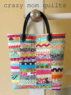 crazy mom quilts: scrap happy purse pattern