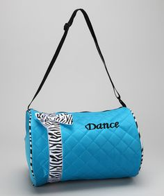 Take a look at this Blue Bow Dance Duffel Bag by Seesaws & Slides on #zulily today!