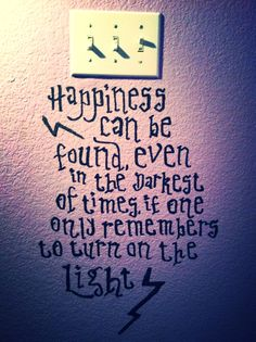 Harry potter quote on my wall