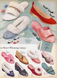 Women wore a whole lot more shoe styles than stilettos in the 1950s. Description from retrowaste.com. I searched for this on bing.com/images