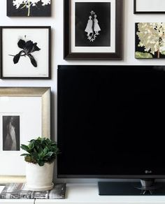 Trying to figure out how to decorate a wall around a flat screen TV. What do you think?