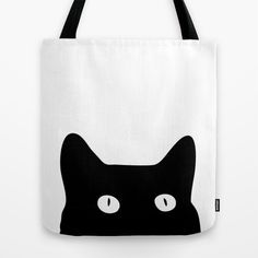 Black Cat by Good Sense as a high quality Tote Bag. Free Worldwide Shipping available at Society6.com from 11/26/14 thru 12/14/14. Just one of millions of products available.