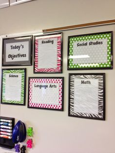 Black and Neon ... Technology Theme  {Focus Board/Objectives Board Inspiration}