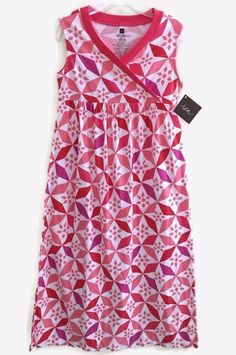NWT Tea Collection 8 Dress Pink Purple White Rabat Tile Maxi Morocco Long Africa #TeaCollection #DressyEverydayHoliday