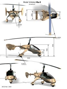Vintokryl Ku I would make the vertical shaft for the lifting propeller more aerodynamic. Drones, Luftwaffe, Avro Arrow, Personal Helicopter, Ejection Seat, Flying Vehicles, Solar Car, La Girl, Experimental Aircraft
