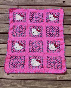 Crochet Hello Kitty Blanket