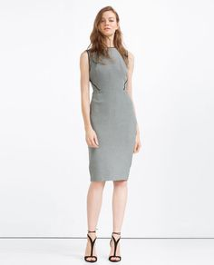 Image 1 of TUBE DRESS WITH PIPING from Zara