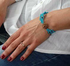 Summer bracelet. Tree of life bracelet. Golden bracelet. Gift for her. Gift for Birthday, Chistmas gift. by EsmeJewelleryArt on Etsy