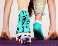 Zen Paws premium non slip toeless socks for Yoga, Pilates, Fitness, Barre or dance – turquoise color. Pilates Workout, Pilates Fitness, Toeless Socks, Non Slip Socks, Yoga Accessories, Turquoise Color, Converse Chuck Taylor, High Top Sneakers, Barre