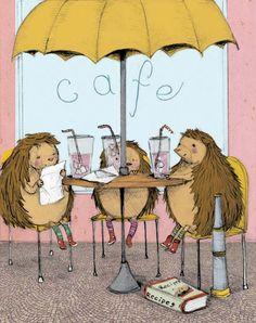 """hedgehogs at the cafe""   stephanie graegin"