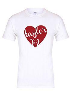 bb89c096 Taylor '89 Heart - Unisex Fit T-Shirt - Fun Slogan Tee: Amazon.co.uk:  Clothing
