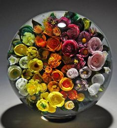 I would love to have this Bouquet of Flowers - Millefiori by Melissa Ayotte - Hobbies paining body for kids and adult Art Of Glass, Marble Art, Glass Marbles, Glass Paperweights, Glass Ball, Stained Glass Windows, Crystal Ball, Glass Design, Paper Weights