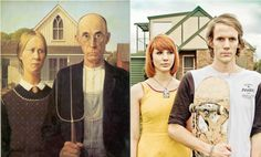 """""""American Gothic"""" by Grant #Wood / #Remake by Jesse John #Hunniford"""