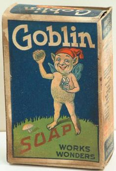Change Goblin to Kobold and it's a Morty Product!Signs, Tins, and Other Advertising Antiques Vintage Tins, Vintage Labels, Vintage Cards, Vintage Stuff, Old Advertisements, Advertising, Vintage Halloween, Happy Halloween, Retro Poster