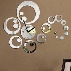 creative designs mirror wall clock large. Home decor large mirror sticker wall clock modern design 3D DIY  watch Ring and Circle Acrylic Mirror Wall Clock Free by Istanbulwall